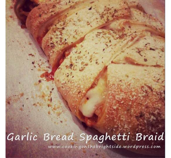 Garlic Bread Spaghetti Braid