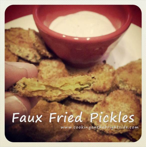 Faux Fried Pickles