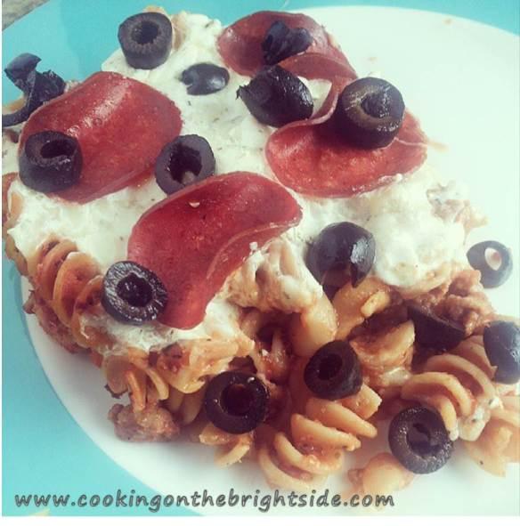 Pizza Casserole Plated