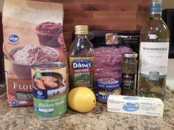 Ingredients for Veal Piccata
