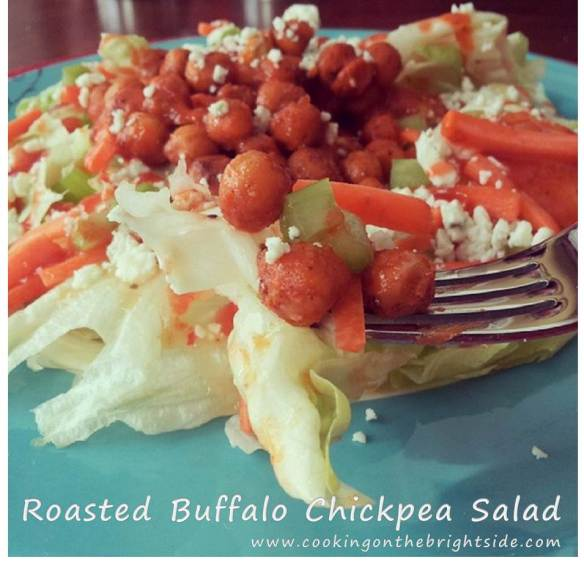 Roasted Buffalo Chickpea Salad