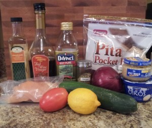 Chicken Gyros - ingredients