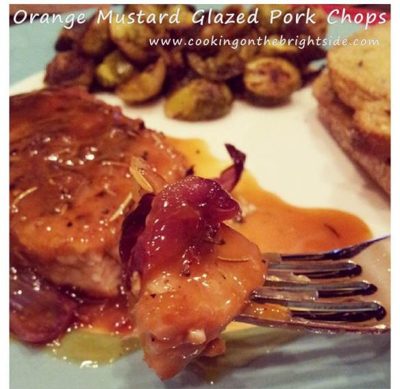 Orange Mustard Glazed Pork Chops