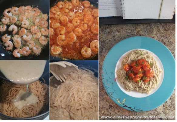 Assembled_BlueCheesePasta-BuffaloShrimp