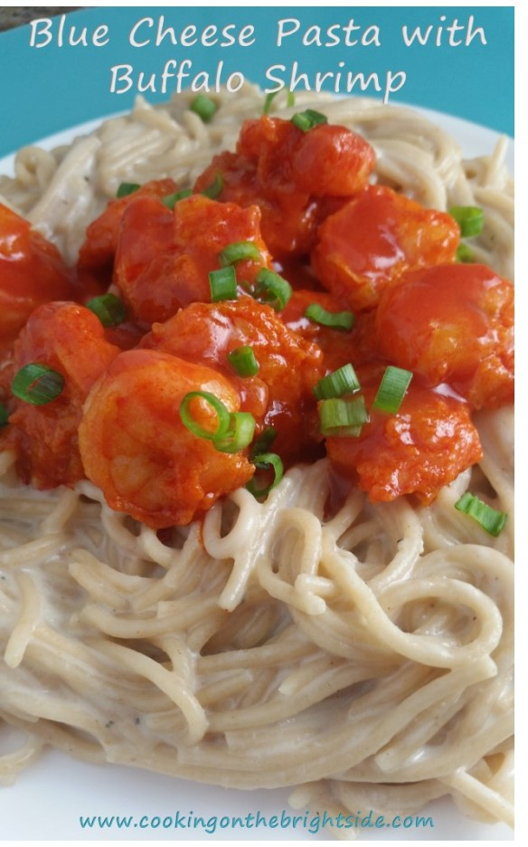 Blue Cheese Pasta and Buffalo Shrimp_CookingontheBrightSide