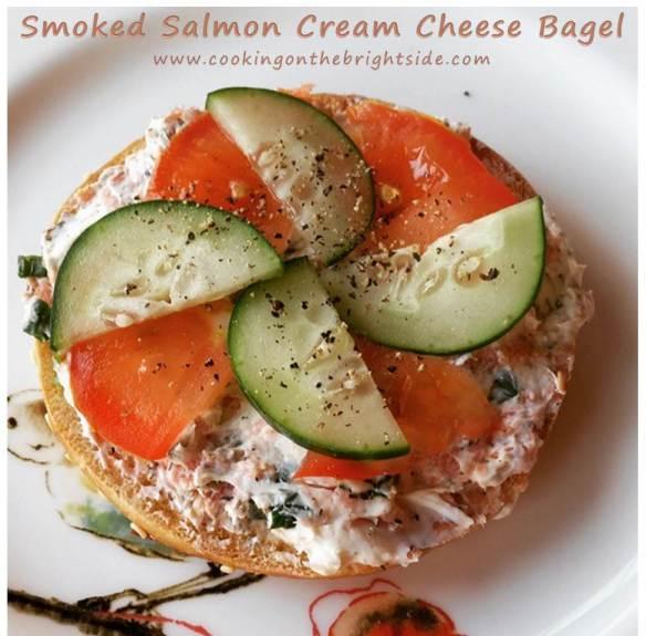 Smoked Salmon Cream Cheese Bagel_cookingonthebrightside